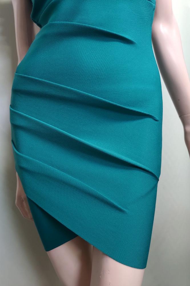 フリルネックバックブレイドバンテージドレス