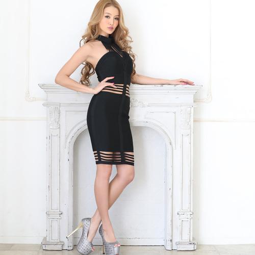 アメスリバンテージタイトドレス