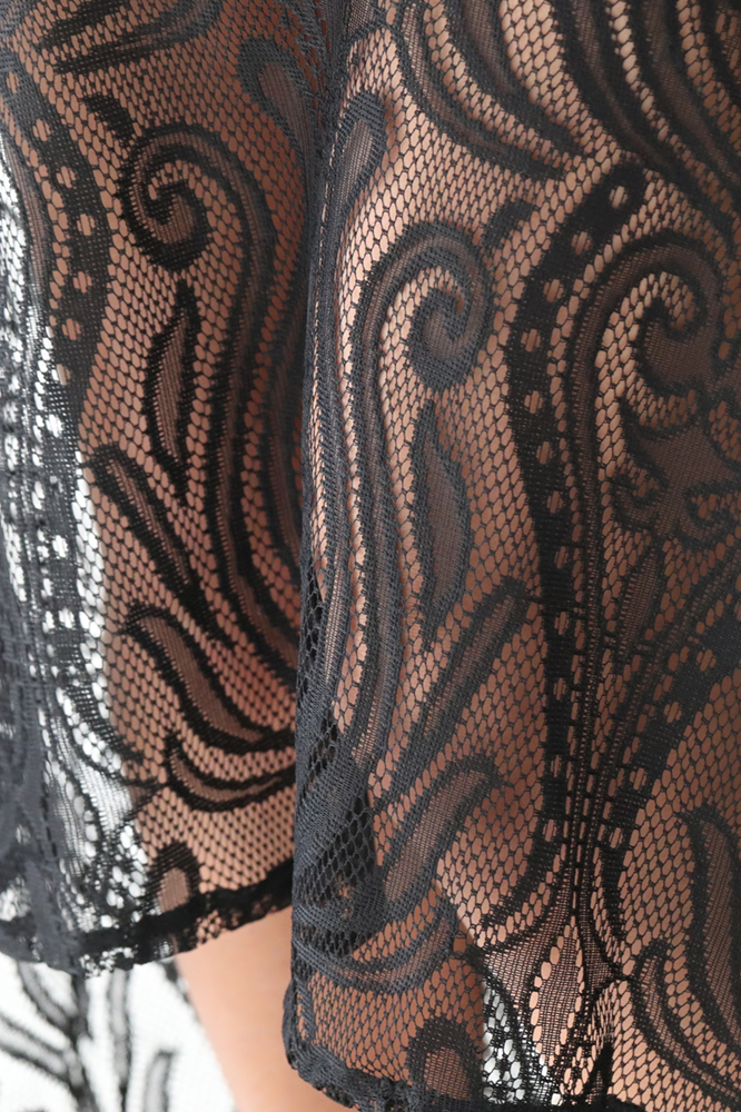 レースアレンジマーメイドオフショルダーバンテージドレス