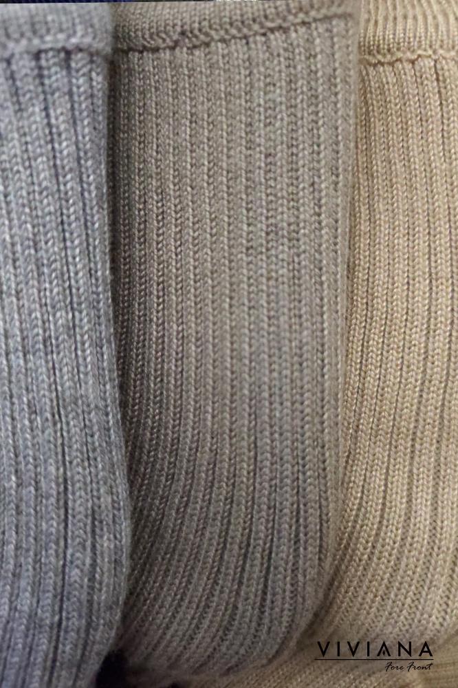ストライプ織り柄ライトニットワンピース