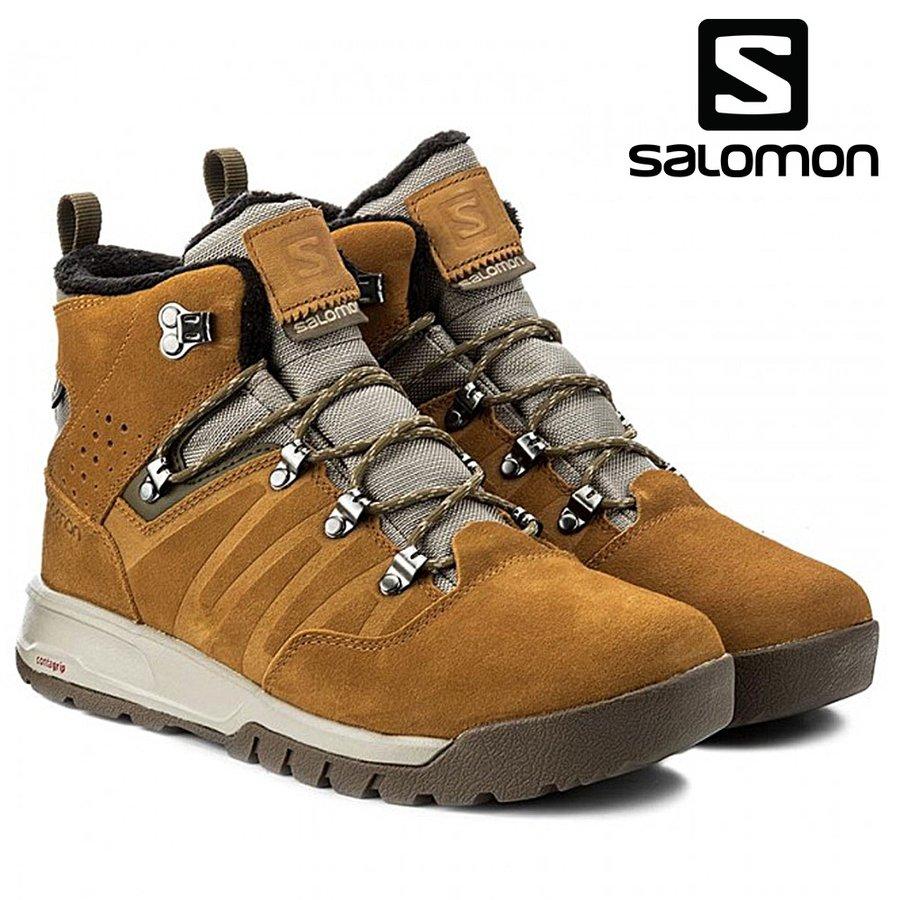 スノー ブーツ SALOMON サロモン UTILITY TS CSWP ユーティリティ クライマシールド ウォータープルーフ スノースクート ウィンターシューズ ワー クブーツ 登山 トレッキング 398478