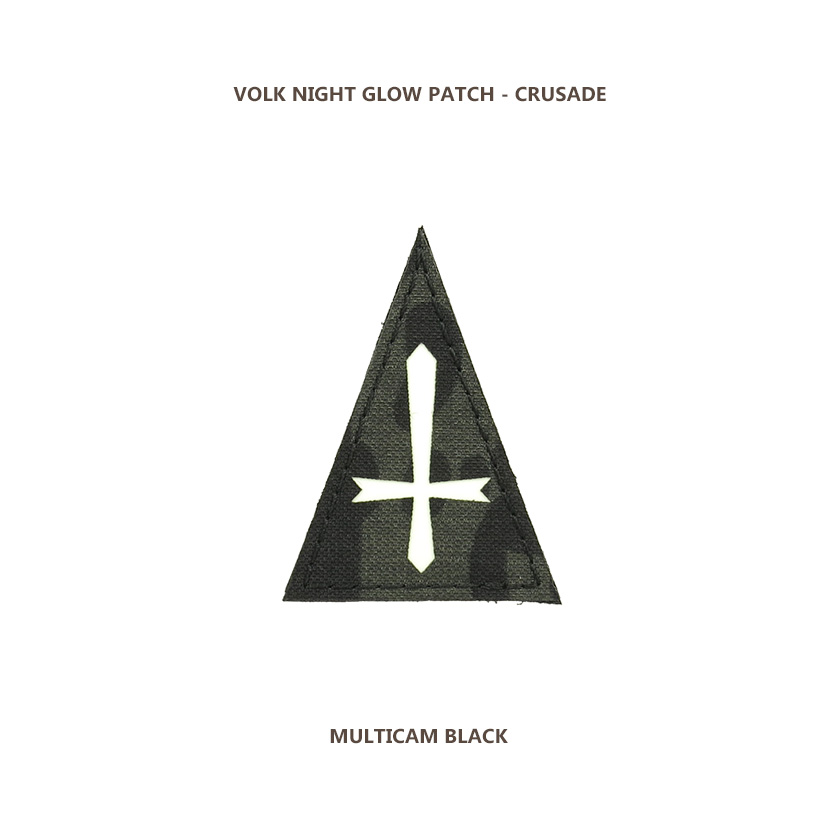NIGHT GLOW PATCH / CRUSADE / MC BLACK