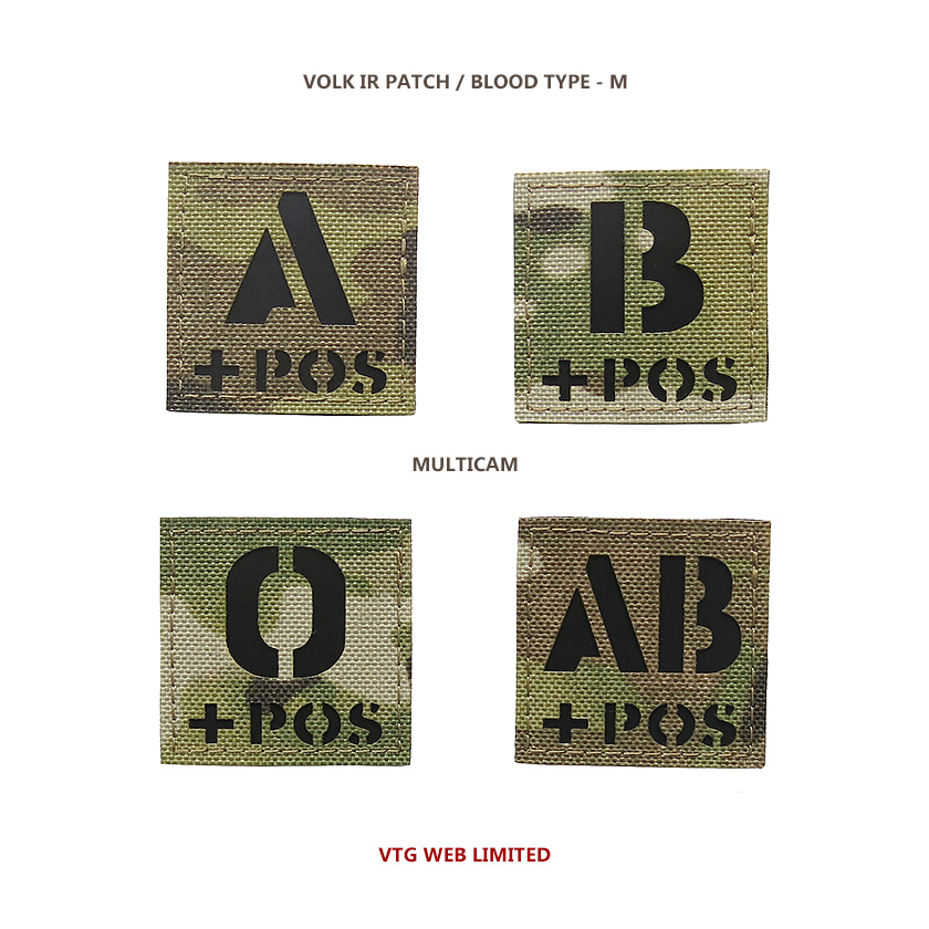 VOLK IR PATCH / BLOOD TYPE - M / MC