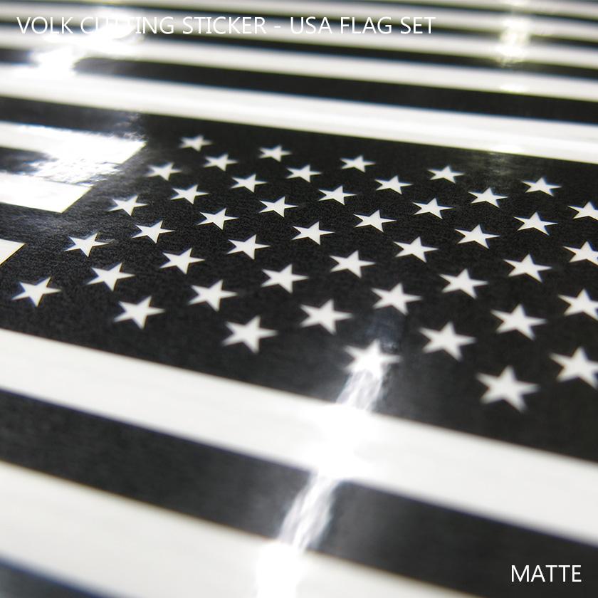 VOLK CUTTING STICKER - USA FLAG SET