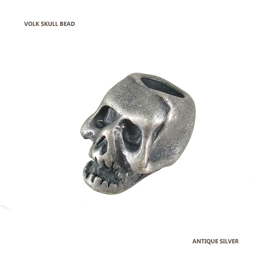 SKULL BEAD / ANTIQUE SILVER