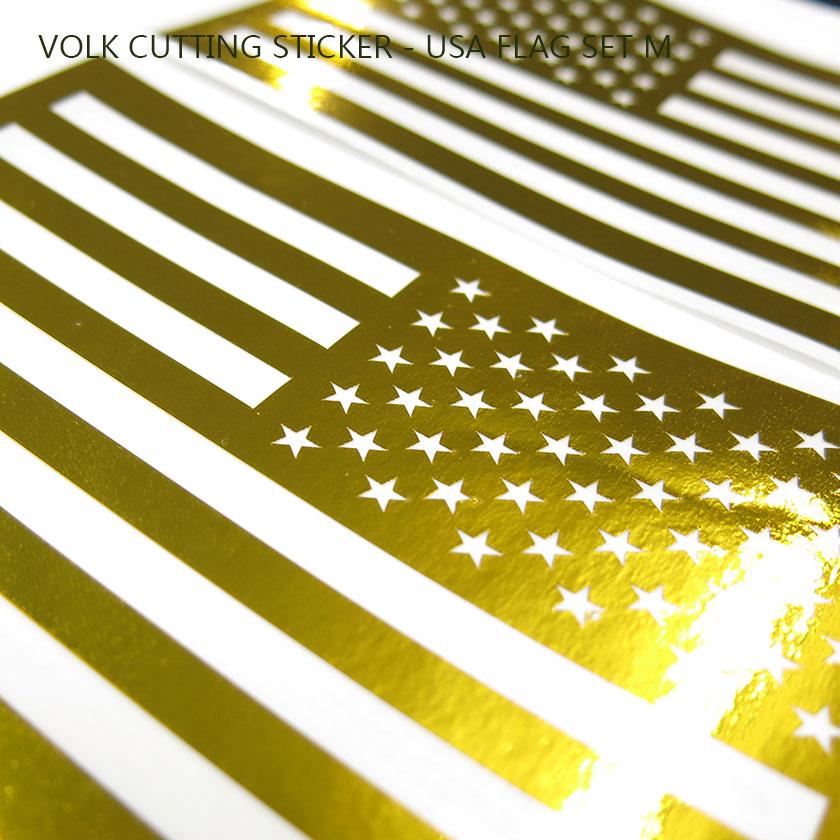 VOLK CUTTING STICKER - USA FLAG SET M