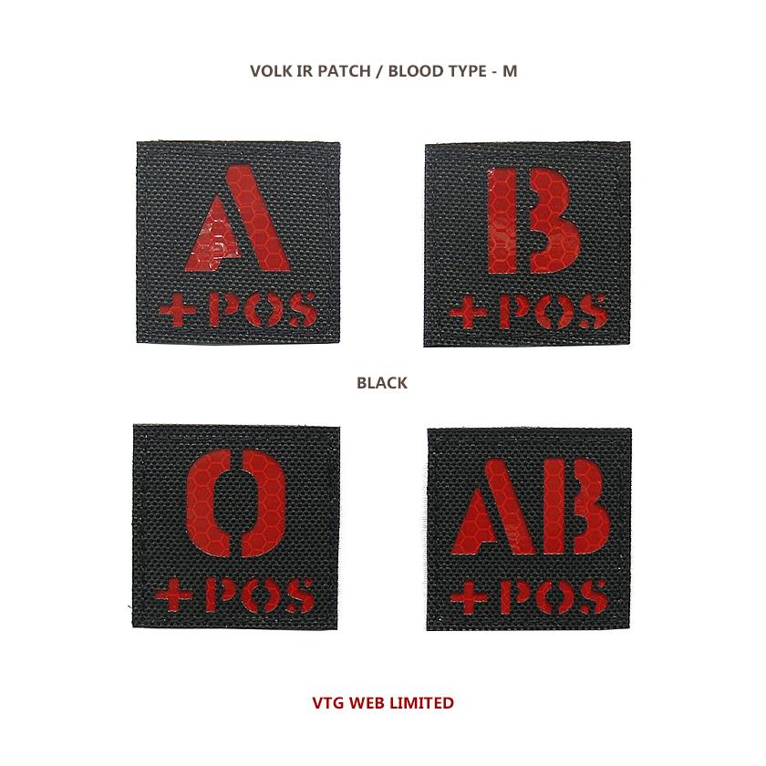 VOLK IR PATCH / BLOOD TYPE - M / BLK