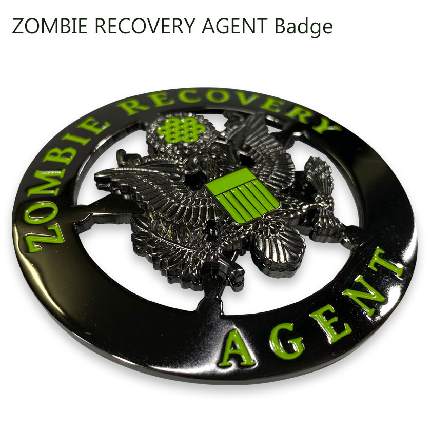ZOMBIE RECOVERY AGENT Badge