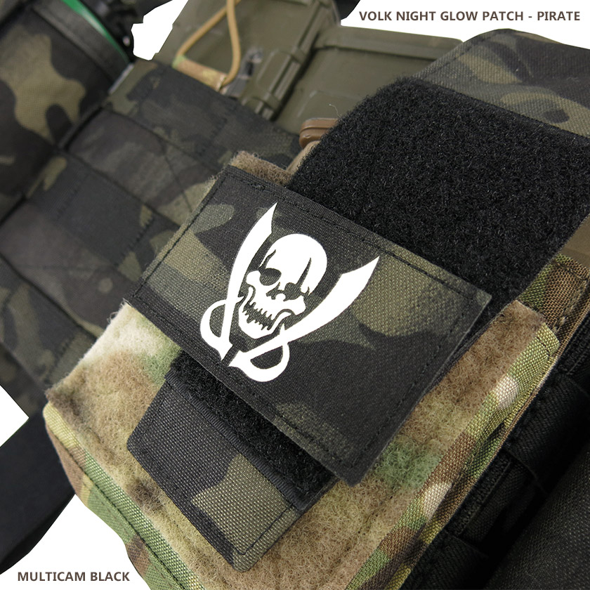 NIGHT GLOW PATCH / PIRATE / MC BLACK