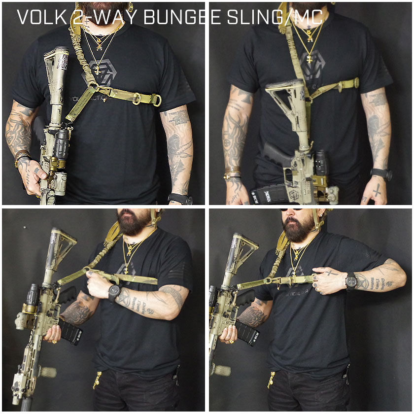 VOLK 2-WAY BUNGEE SLING/MC