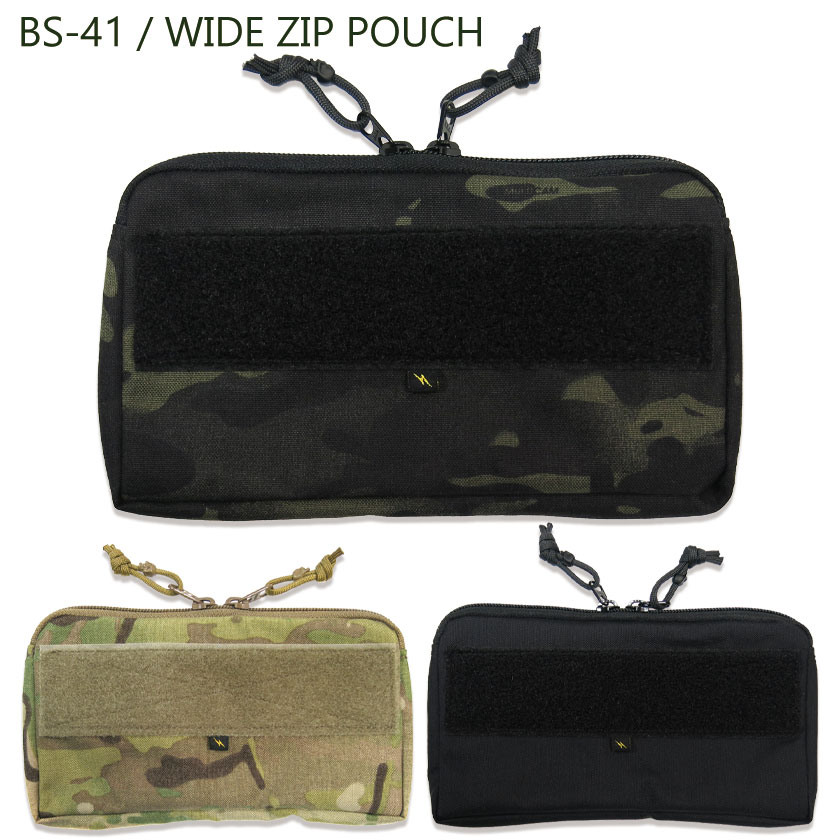 BS-41 / WIDE ZIP POUCH