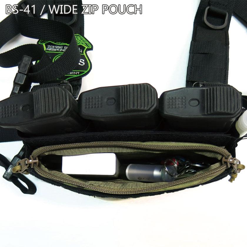 BS-41 / WIDE ZIP POUCH