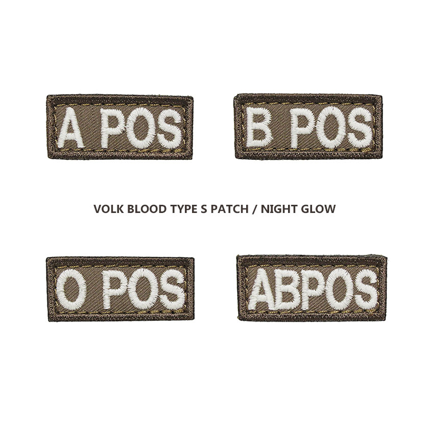 VOLK BLOOD TYPE - S PATCH / NIGHT GLOW