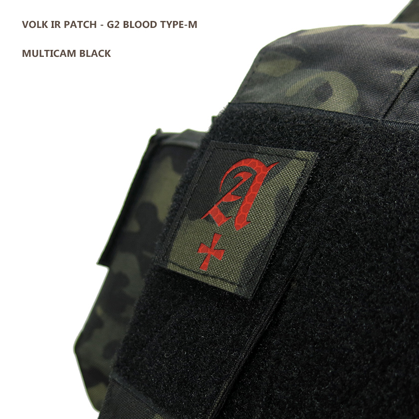 IR PATCH / G2 BLOOD TYPE-M / MC BLACK