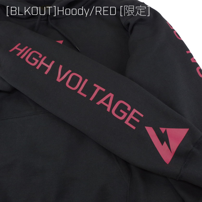 [BLKOUT]Hoody/RED[限定]