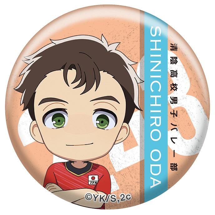 2.43 清陰高校男子バレー部 日本代表コラボ 缶バッジ6個セット