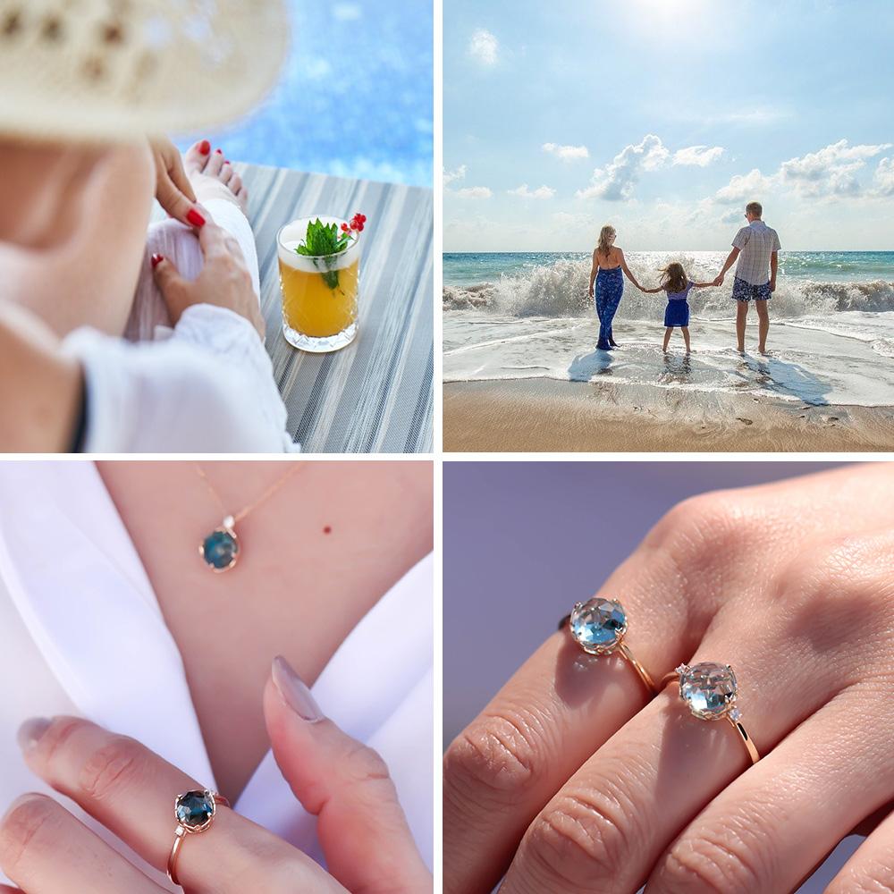 MINAMO Flower&Cabo ダイヤモンドネックレス