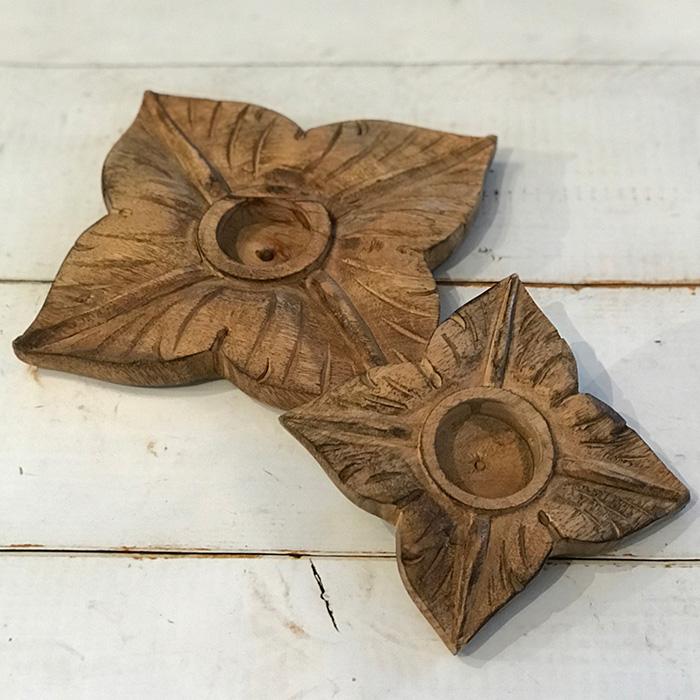 キャンドルスタンドLサイズ花木製