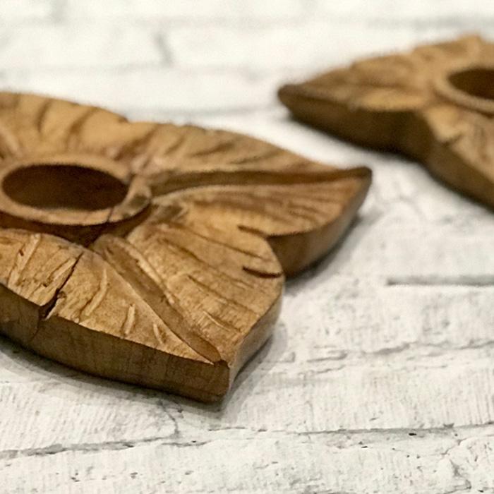 キャンドルスタンドMサイズ花木製
