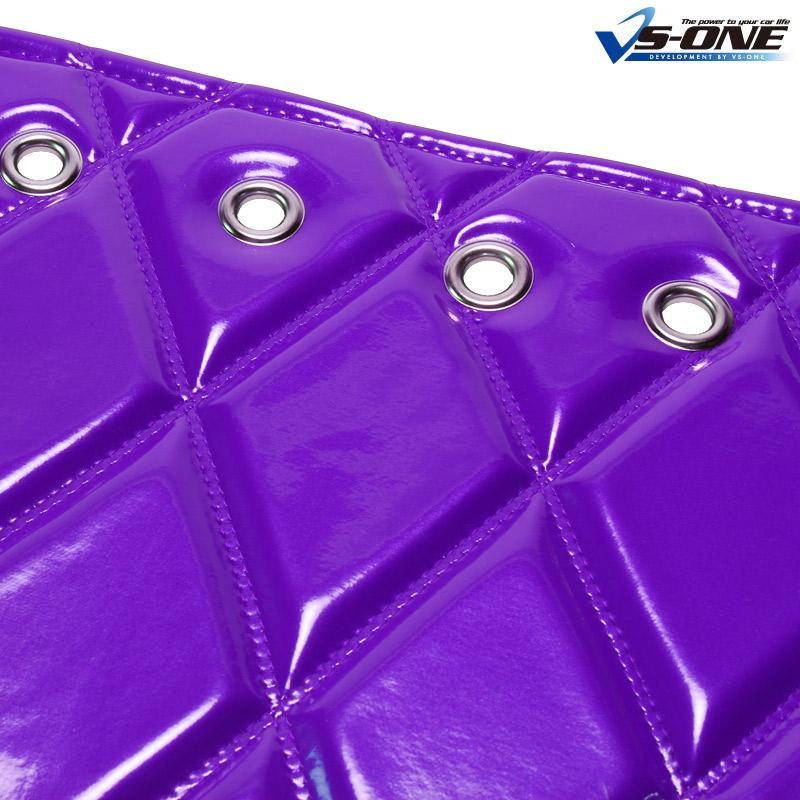 ダッシュマット + ハンドルカバー LM NEW エルフ ワイドキャブ(ダブルキャブ含む) エナメル パープル 内装ドレスアップセット 送料無料