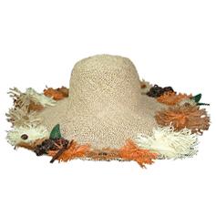 つば広帽子 - 幸せを運ぶチョウチョ / Natural