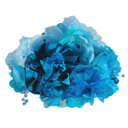 ヘッドドレス - Sky Blue Flowers