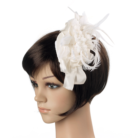 ウェディングヘッドドレス - 幸せを詠う羽根