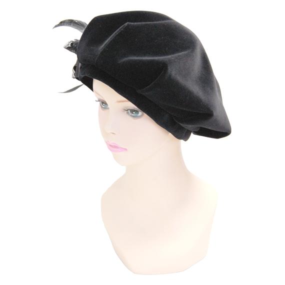 ベレー帽 - Renaissance Black