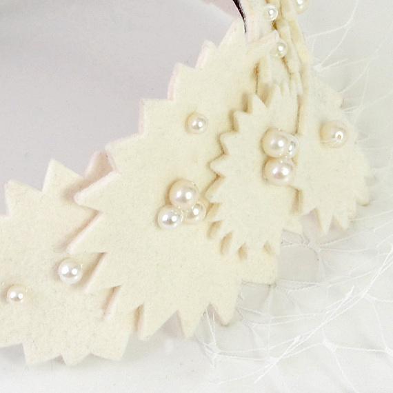 カチューシャ - GIZAGIZA FLOWER / Hairband White