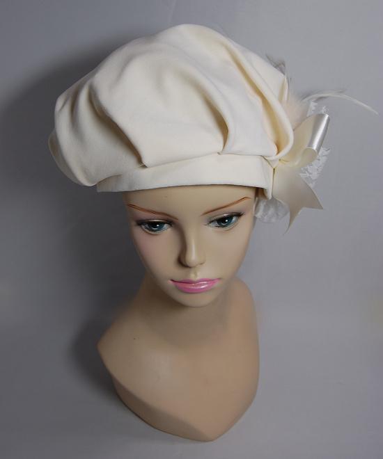ベレー帽 - Renaissance White