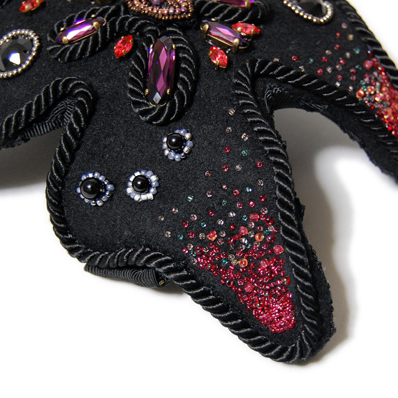 ヘッドドレス - 輝きをまとった蝶々