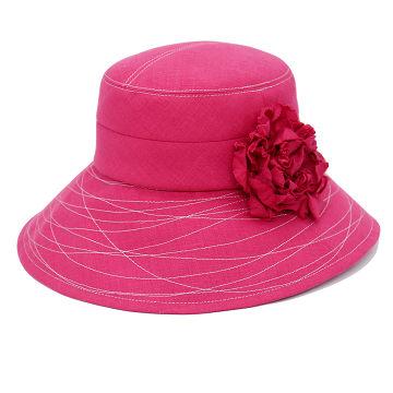 つば広帽子 - Humming of Wave (pink)