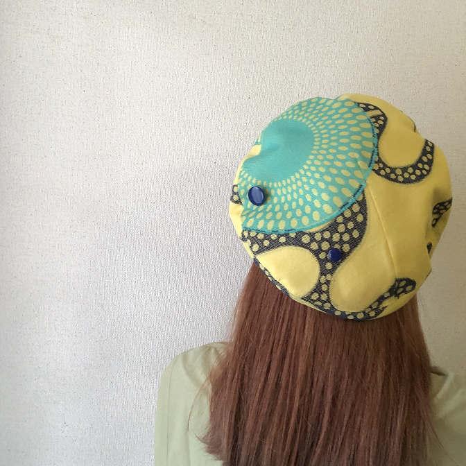 【数量限定】ベレー帽-Aqua Sparkle