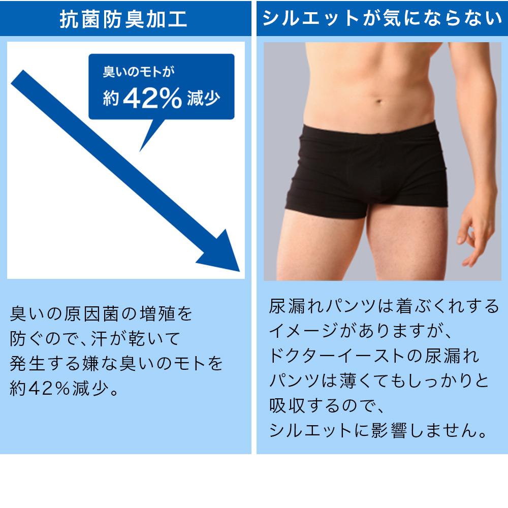 軽度尿漏れ対応 モアガード ボクサーパンツ ブラック Mサイズ 吸水 防臭 抗菌 残尿感 尿漏れ MORE GUARD 送料無料
