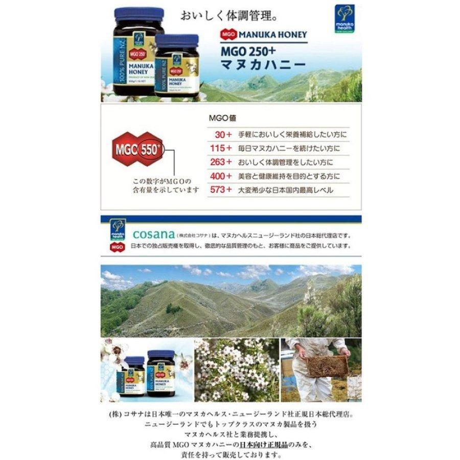 マヌカハニー はちみつ 蜂蜜 マヌカヘルス MGO115 250g 2個セット 旧MGO100 ニュージーランド 純粋 日本向け 正規輸入品 日本語ラベル 送料無料