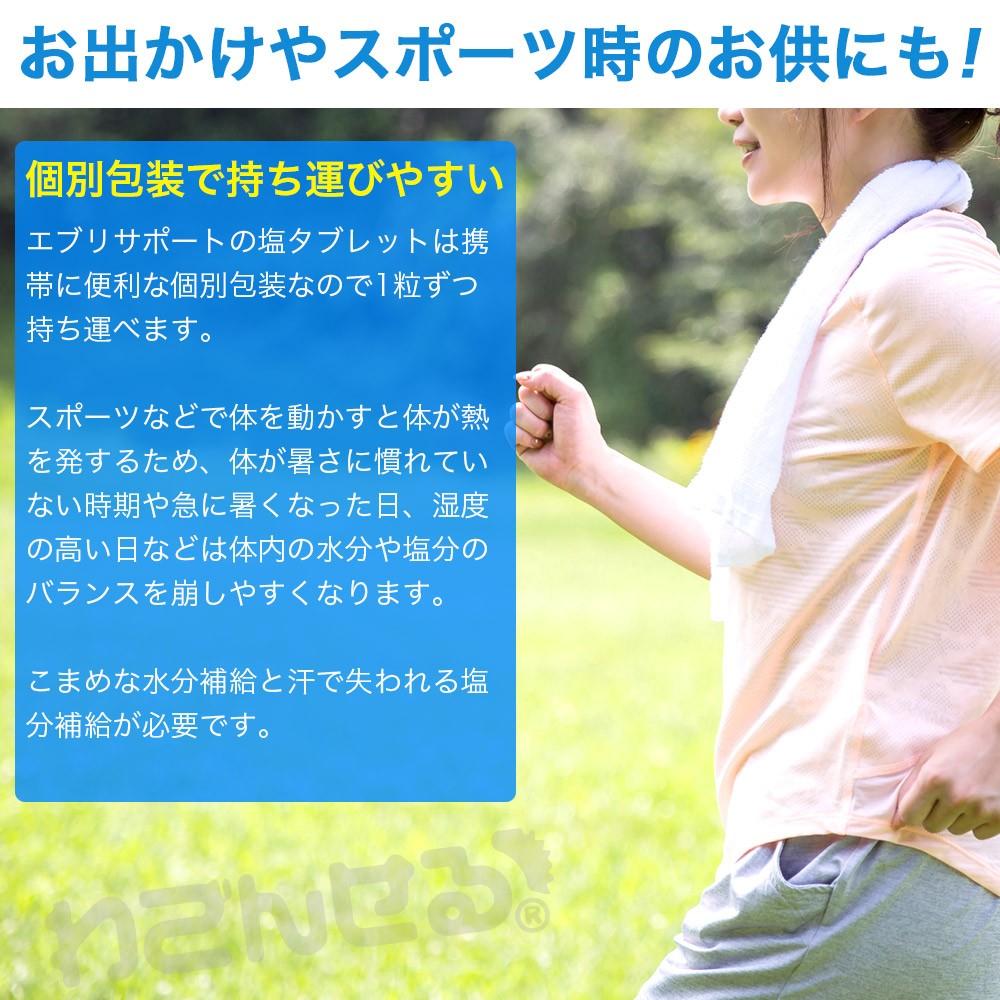 タブレット 塩分 補給 飴 熱中症 対策 エブリサポート 30粒 10袋セット