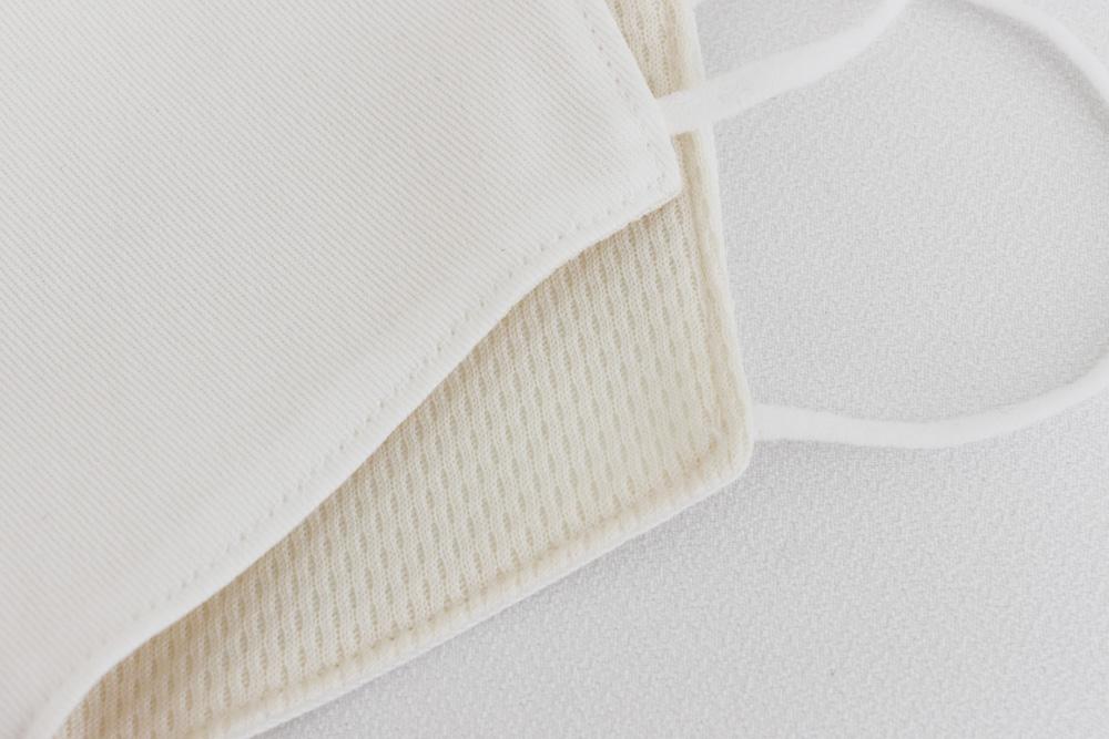 抗菌素材Etak(イータック)使用 デニム調立体型マスク 大人用 - ホワイト