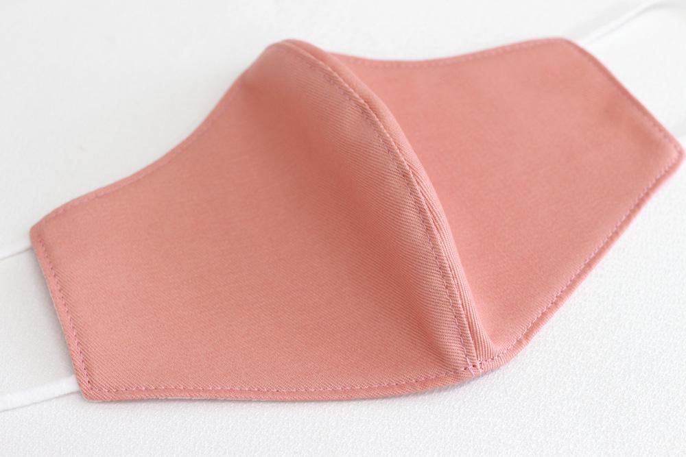 抗菌素材Etak(イータック)使用 デニム調立体型マスク 大人用 - ピンク
