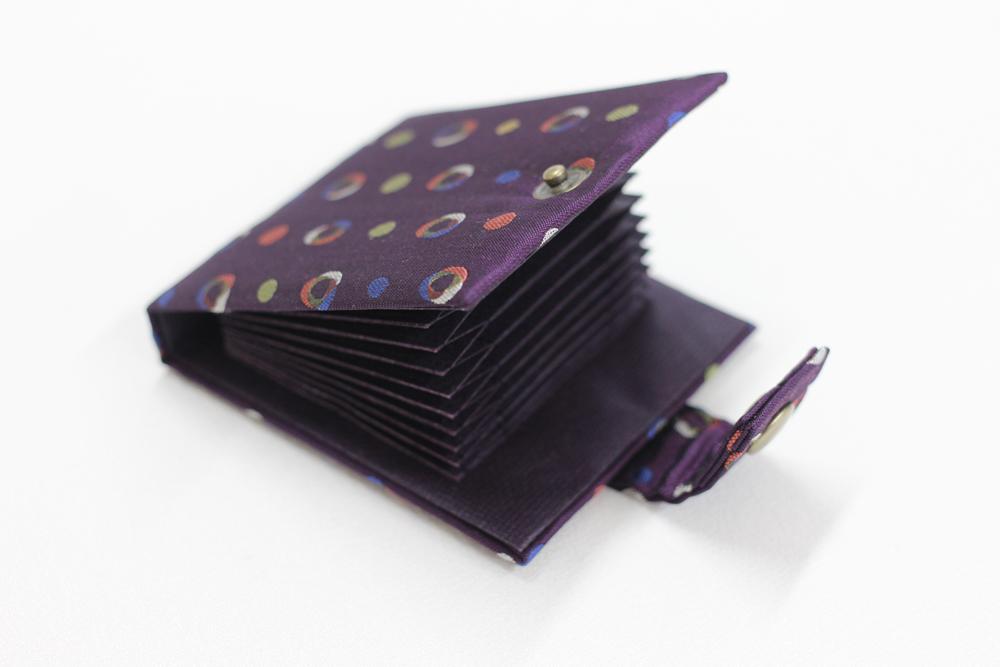 京都西陣織 ハニカム構造ポケット カードケース 【変わり水玉】  ラッピング無料