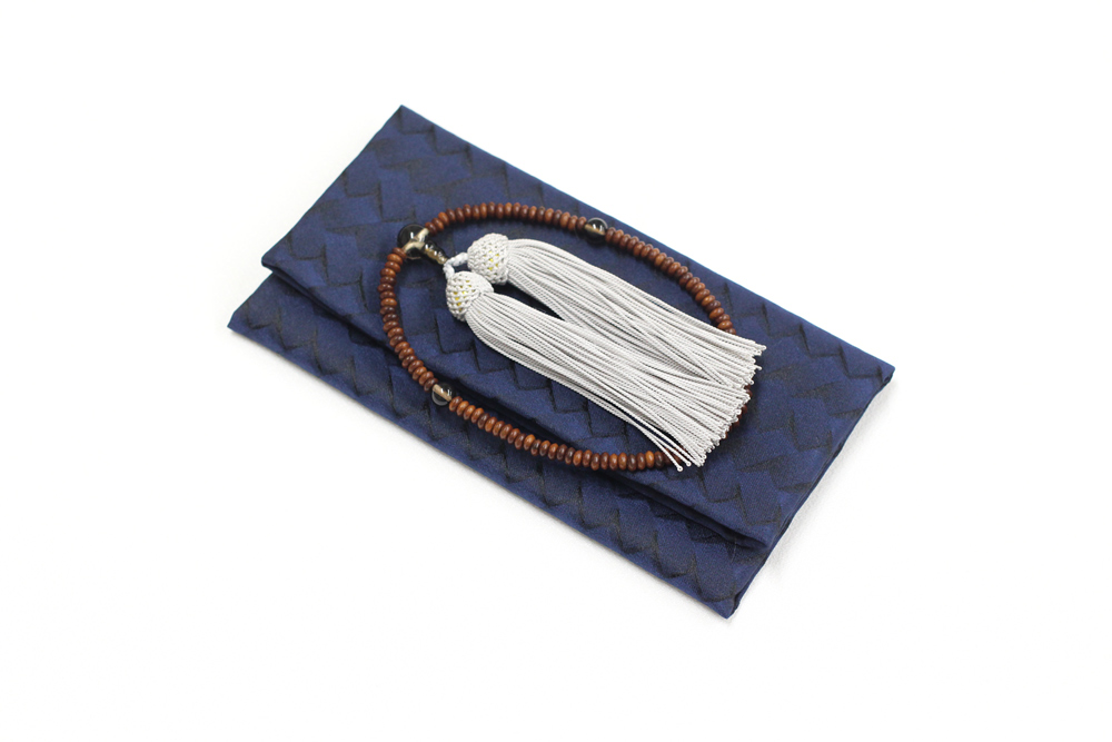 ふじやま織メンズ念珠袋(網目模様)