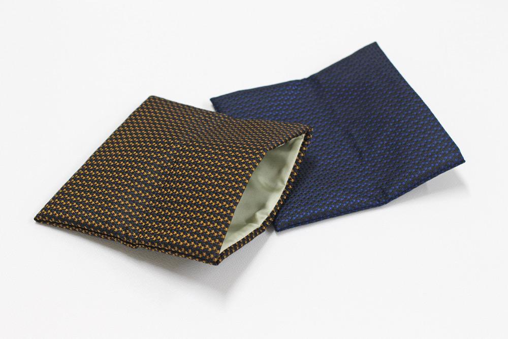 ふじやま織メンズ念珠袋(星/芥子)