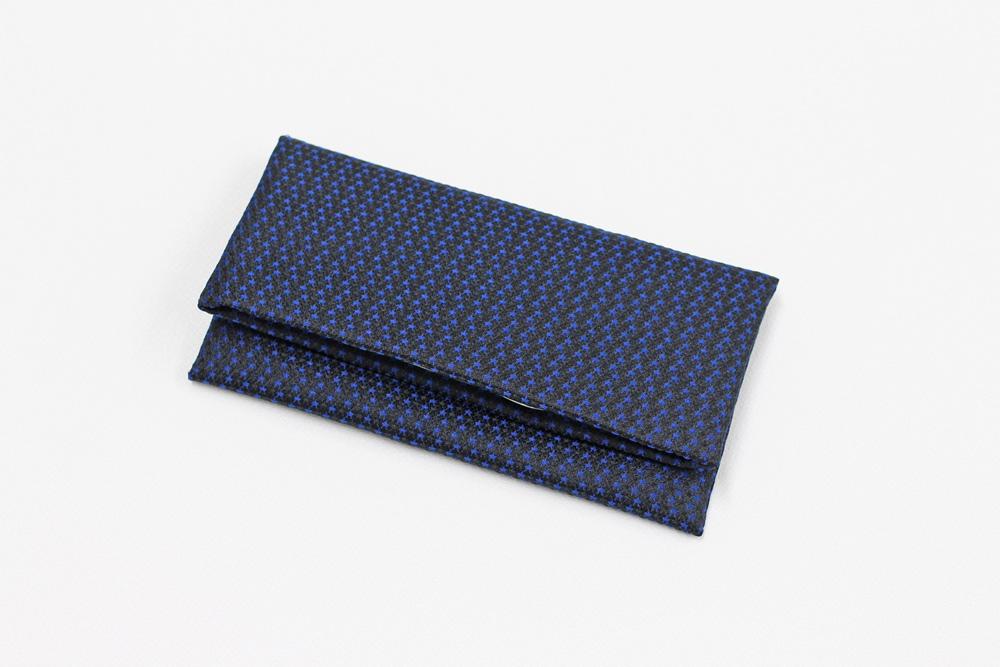 ふじやま織メンズ念珠袋(星/濃紺)