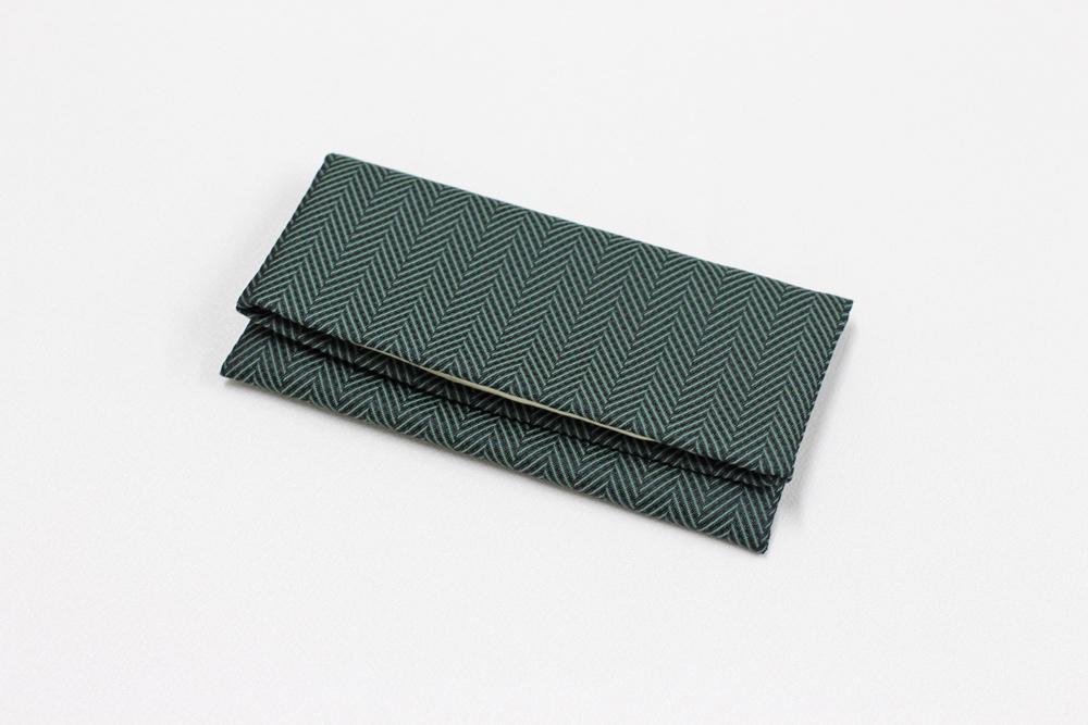 ふじやま織メンズ念珠袋(杉綾/グリーン)