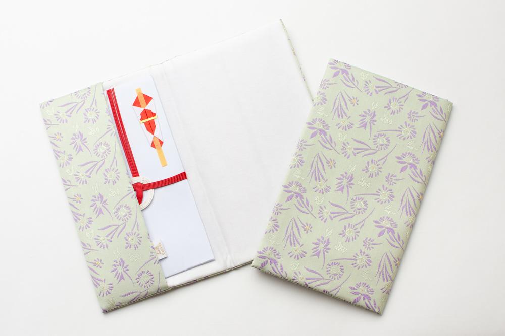 西陣織・慶弔ふくさ(小花) 桐箱入り 名入れ可能 ギフト 勲章 叙勲 記念品