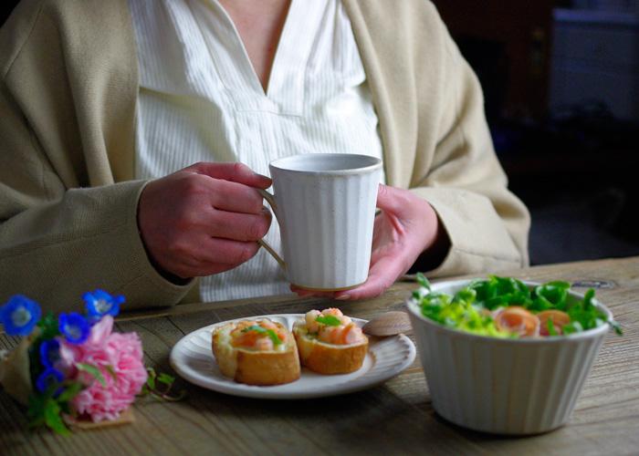 お家カフェセット【kinari】マグカップ シリアルボール パン皿(3点セット)益子焼 おしゃれ ギフトセット(食洗機・電子レンジ対応) 母の日 食器セット 結婚祝い 皿 鉢 可愛い お揃い 陶器 プレゼント  セット  ペアギフトお家カフェ