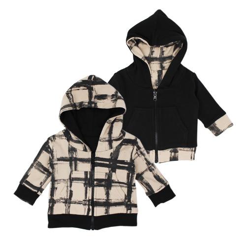Kids Reversible Zipper Hoodie【全6色】
