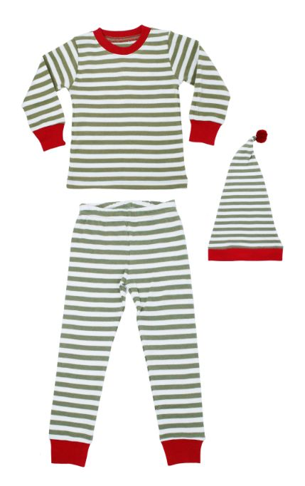 Kids L/Sleeve PJ&Cap Set【全3色】