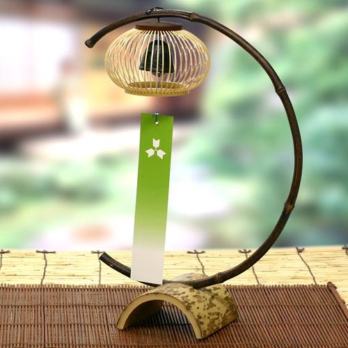 駿河竹千筋細工 置き風鈴(清風) 静岡県伝統工芸品 杉山雅泰 作