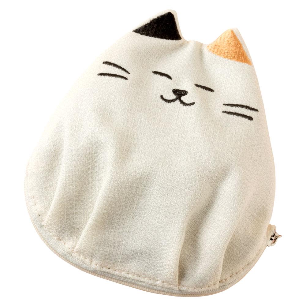 にゃんこポーチ 三毛猫 化粧ポーチ スーベニール Cat pattern pouch