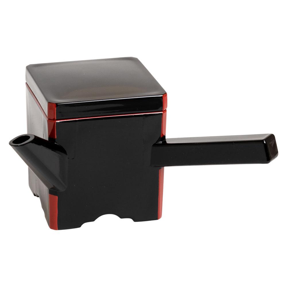 湯筒(ゆとう)そば湯入れ 角小黒330ml 自宅で蕎麦を楽しむテーブルウェア Soba water pot